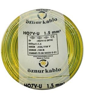 Öznur 1,5 mm NYA Kablo - 100 Metre